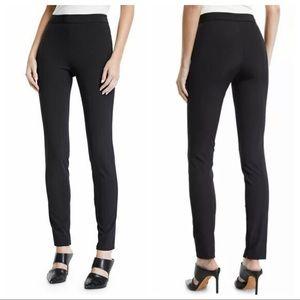 THEORY BLACK BECKER HIGH WAIST SKINNY DRESS PANTS